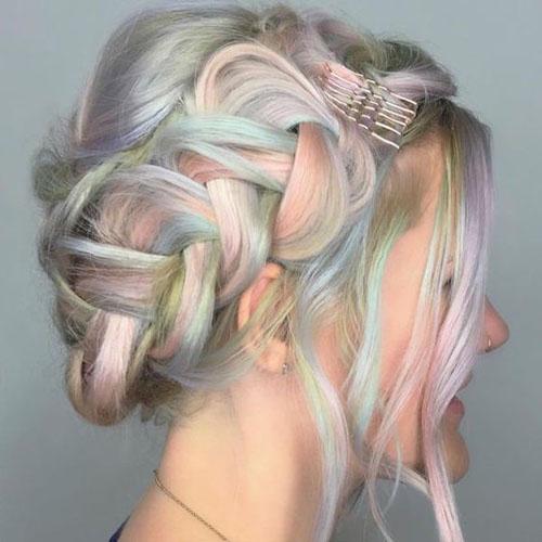 Acconciatura Con Treccia Intorno Al Capo E Opal Hair