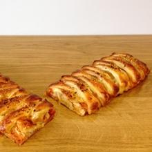Trenza-pizza de hojaldre