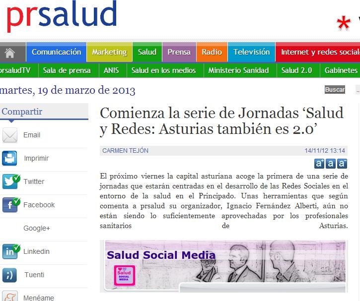 Comienza La Serie De Jornadas Salud Y Redes Asturias Tambien Es 2 0