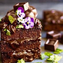 Brownie de avena y chocolate