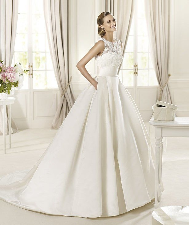 hermosos vestidos de encaje para novias - beqbe