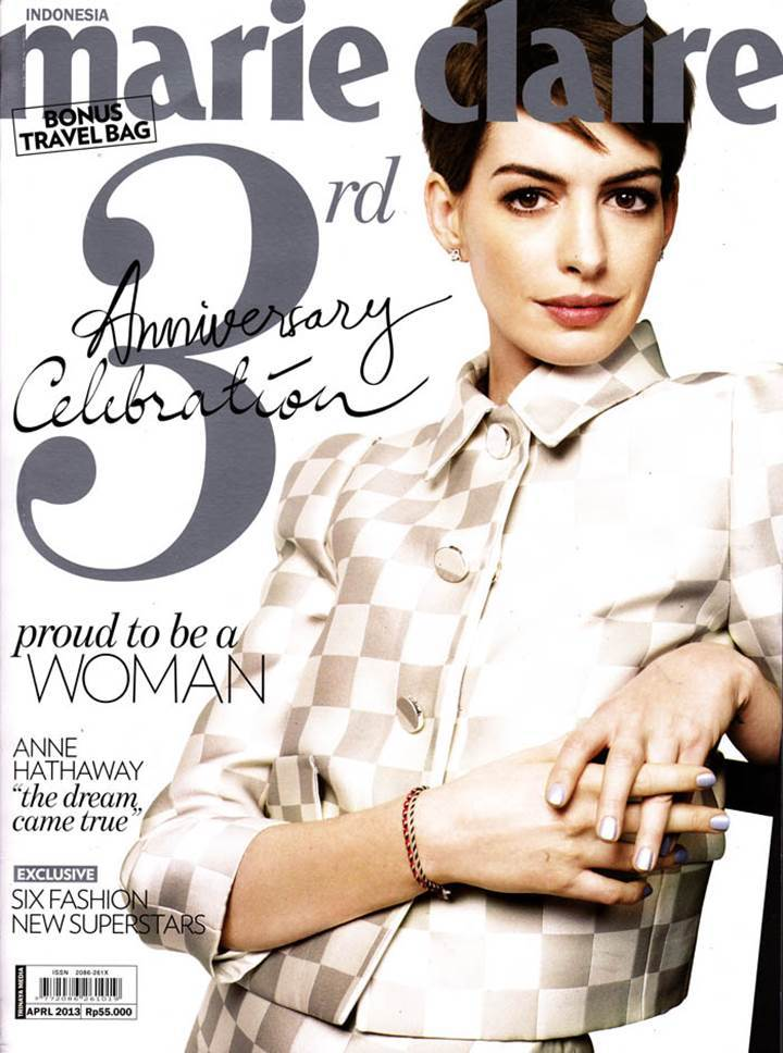 Anne Hathaway Marie Claire Cover