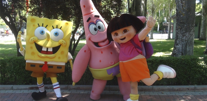Bob Esponja, Patricio y Dora la Exploradora