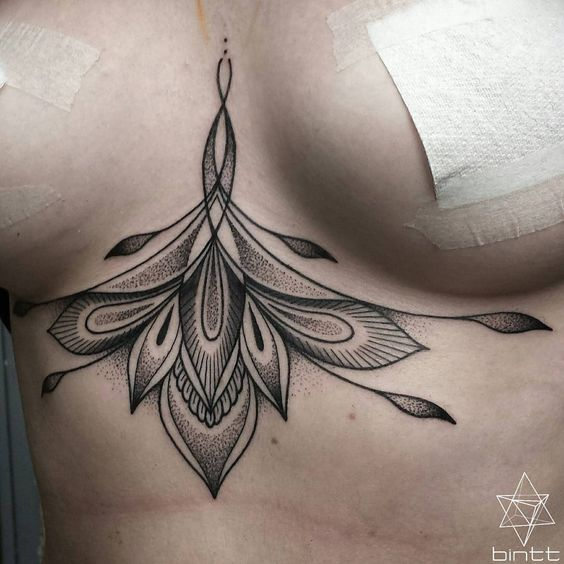 Top 19 Pretty Under Breast Tattoo Designs Cute Famous Style From Fashion Blog 11