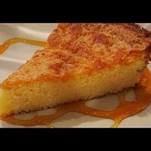 Torta de queso con manteca de maní