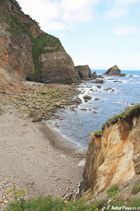 Purtiella Beach Cudillero Asturias Wester Side