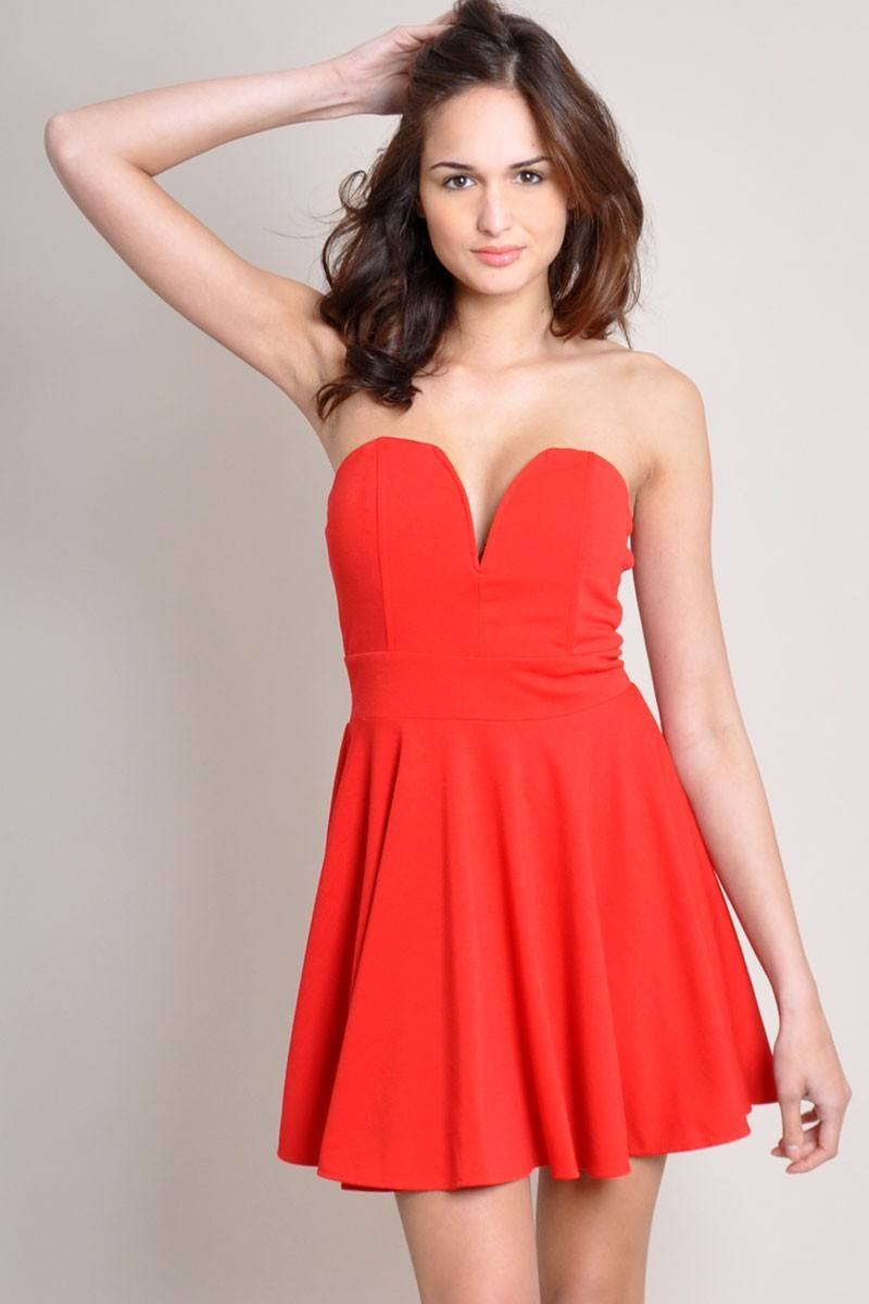 Vestido Rojo Corto De Fiesta