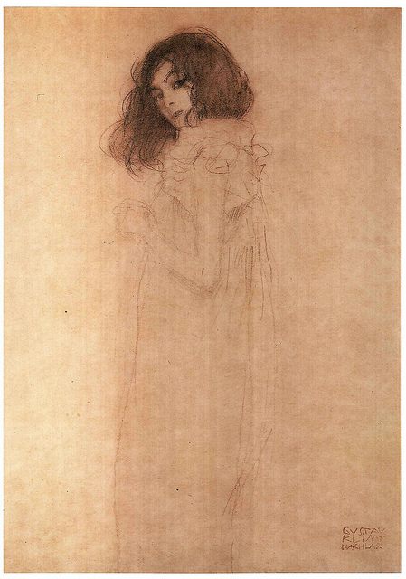 Gustav Klimt Drawing Of A Girl