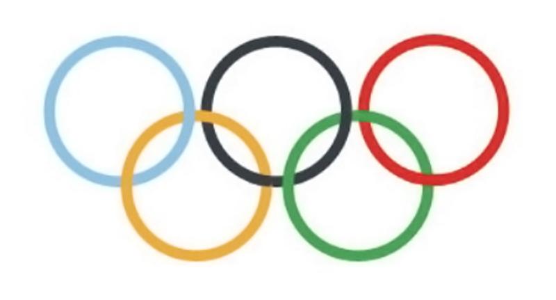 Bandera Olímpica formada por 5 anillos