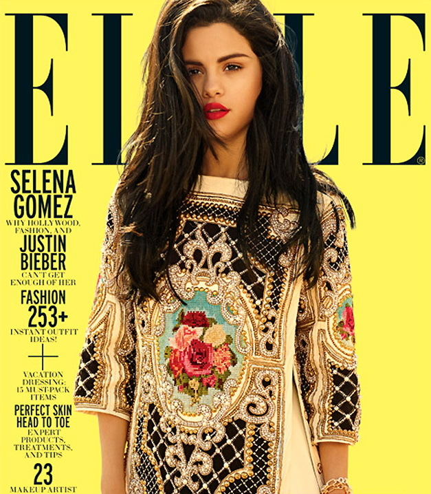 Selena Gomez Covers July 2012  Elle Magazine