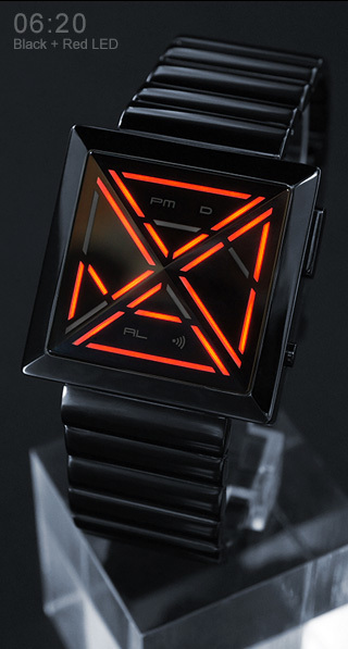 X Red Led Watch