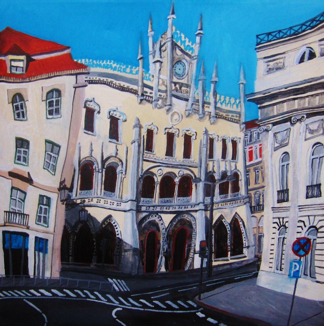 Lisboa. Acrílico sobre lienzo (60x60cm)