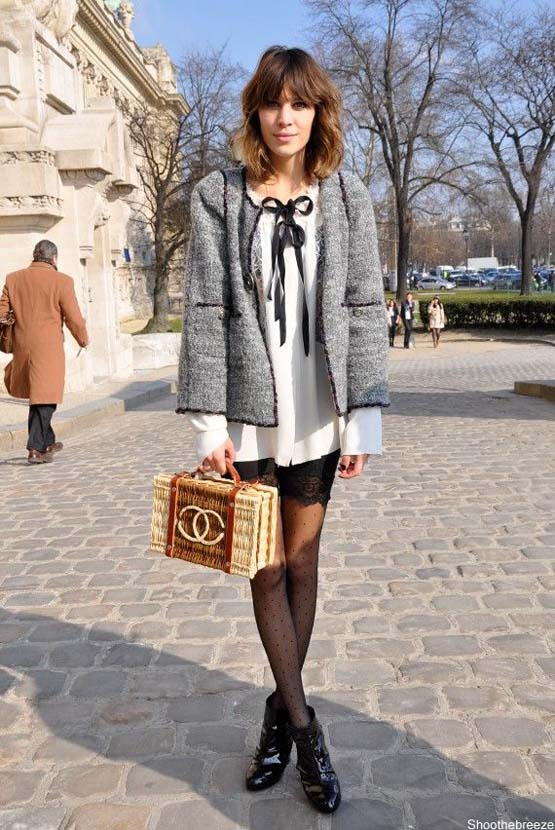 Alexa Chung Chanel Straw Bag