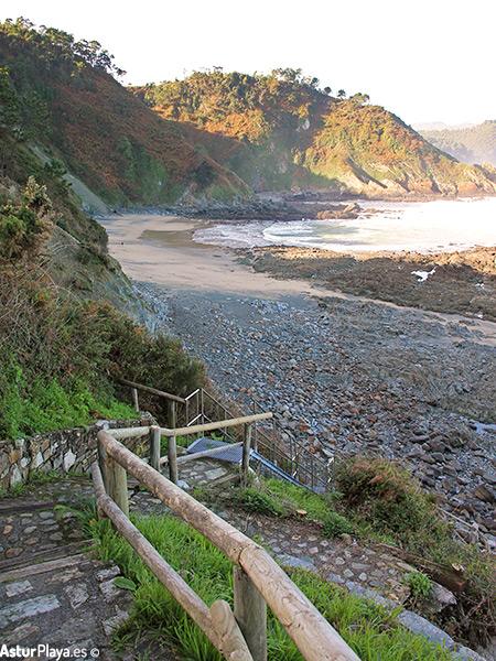 Las Llanas Beach Asturias New Stairs