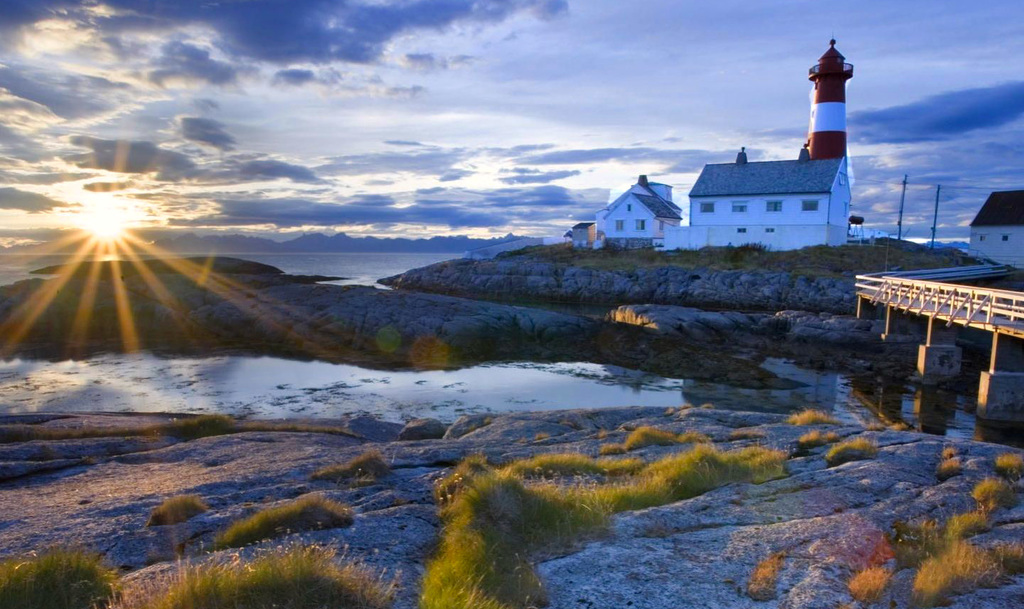 Tranoy Lighthouse Hamaroy Norway