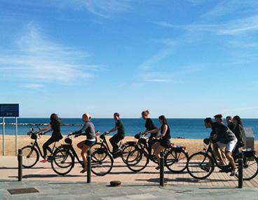 Paseo Bicicleta Barceloneta Bcn Playa