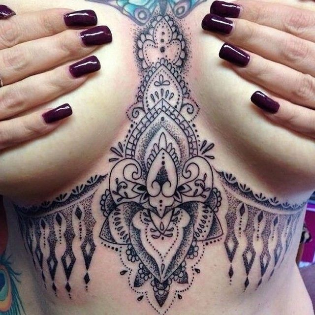 Under Breast Tattoos135