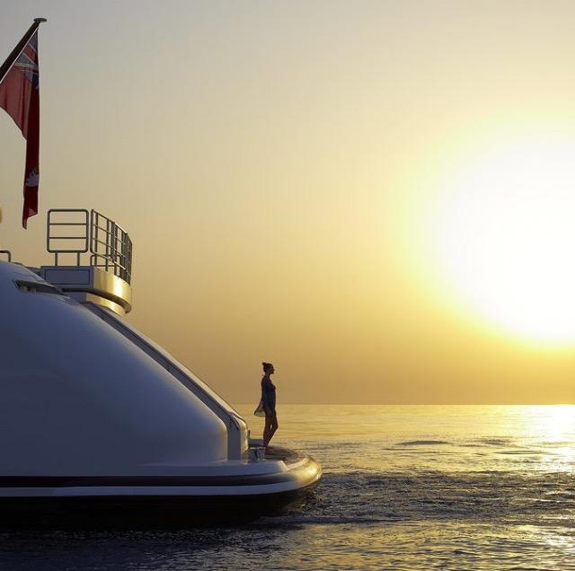 Yanpy Post 79 Megayacht Sunset Sea