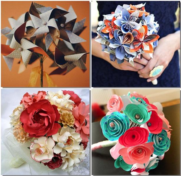 Bouquets De Novia Con Flores De Papel