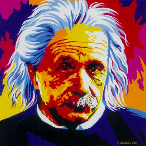 Albert Einstein By Vladiimir Gorsky Pop Art Images 1343565190 B