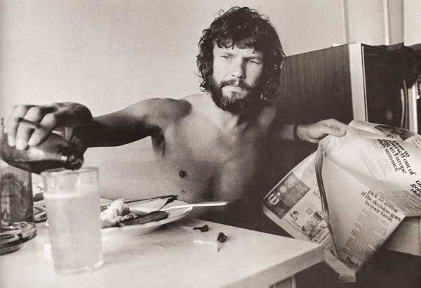 Kris Kristofferson In A Hotel Room On Sunset Boulevard 1970
