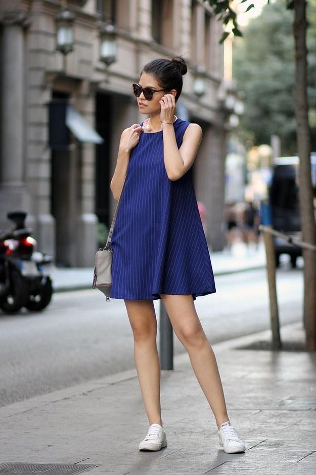 Outfit vestido azul formal
