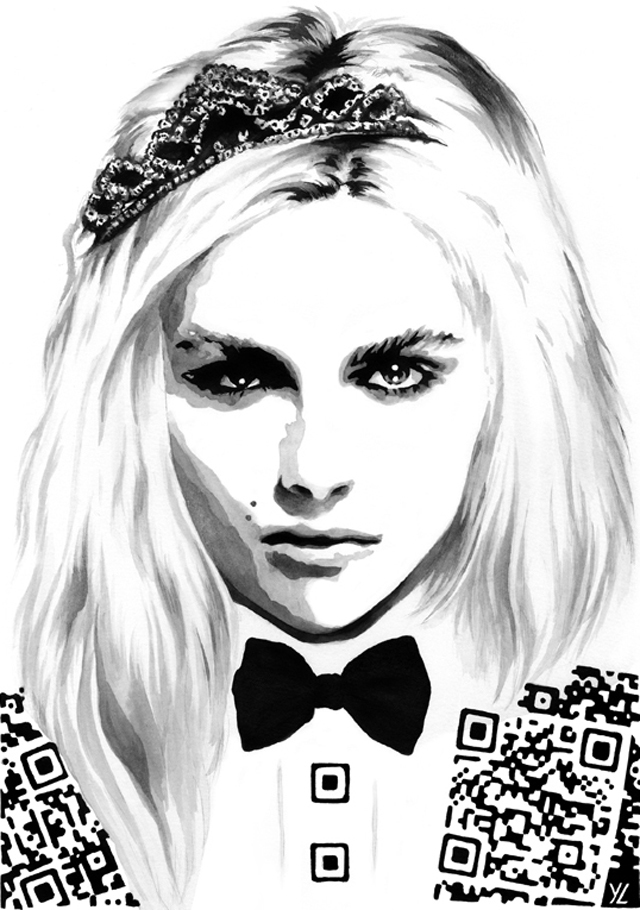 Meets Obsession Qr Code Fashion Illustration By Yiying Lu 1