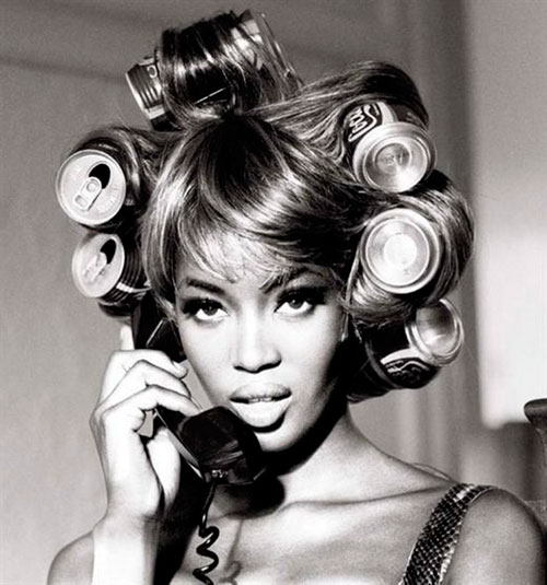 Naomi Campbell With Coca Cola Rollers Photographed By Ellen Von Unwerth 1991
