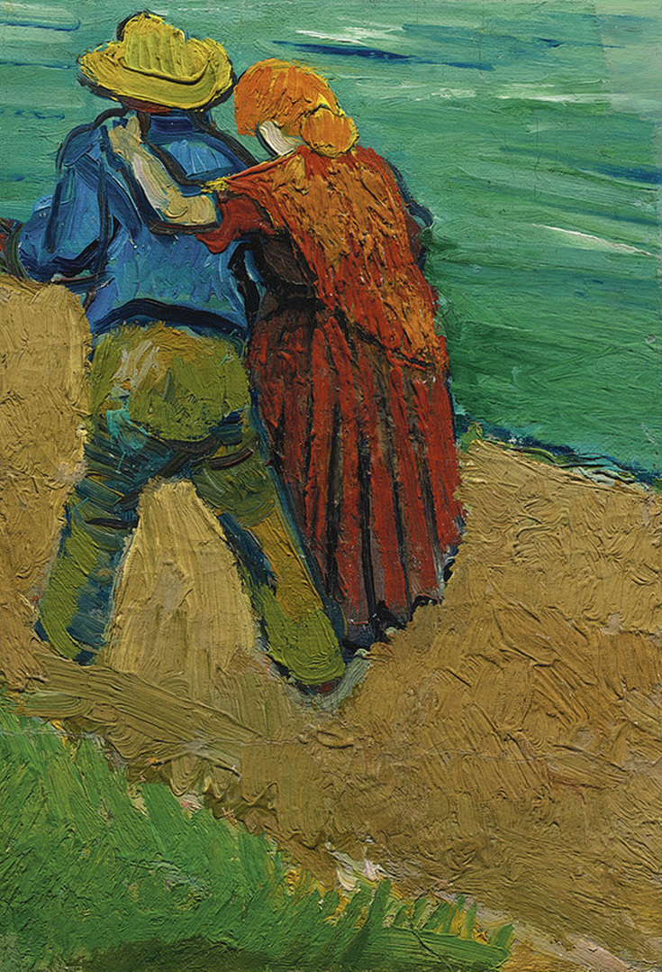 The Loving Couple By Vincent Van Gogh