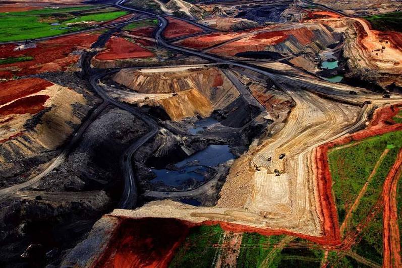 Coal Mine Aerial South Africa Yann Arthus Bertrand