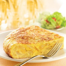 Light Spanish tortilla in the microwave