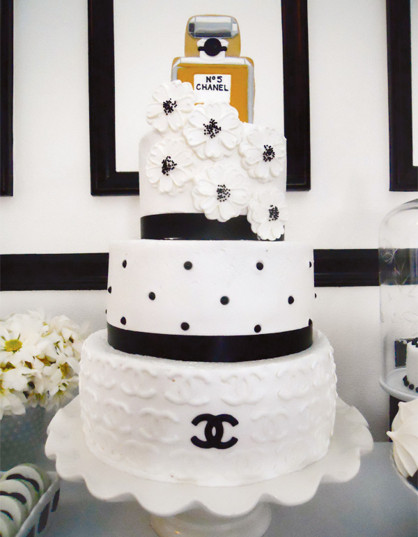 Coco Chanel Dessert Table Cake