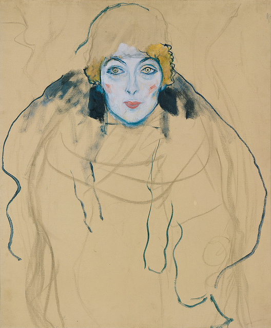 Gustav Klimt Unfinished Portrait 1917