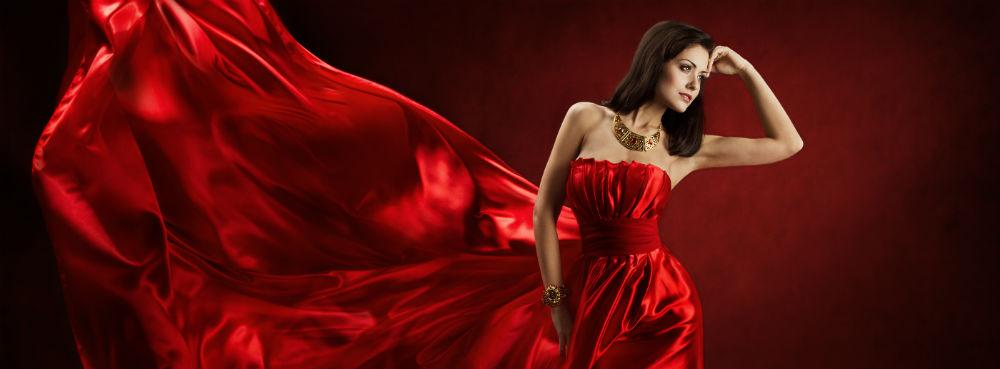Bigstock Woman In Red Waving