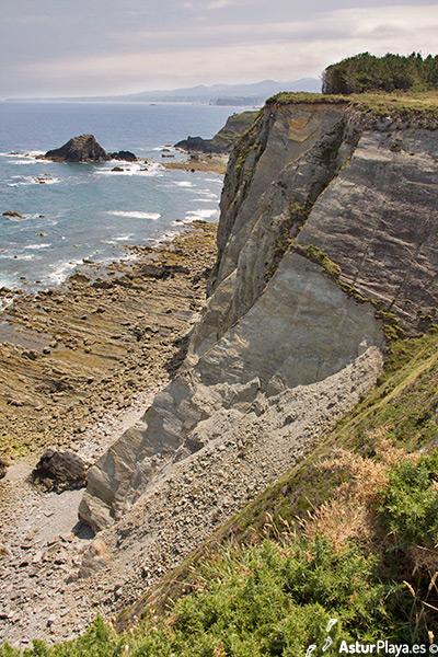 Cape Busto Cliffs At Boxada El Vino Beach Asturias