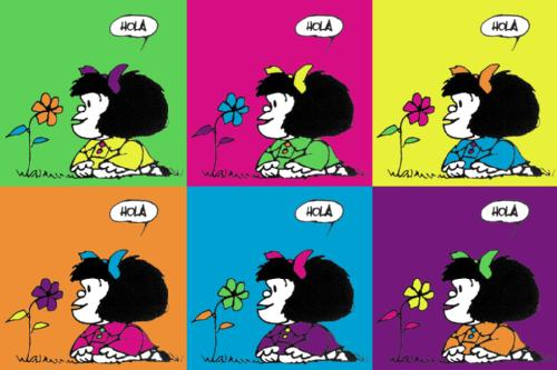 Mafalda Color Flor