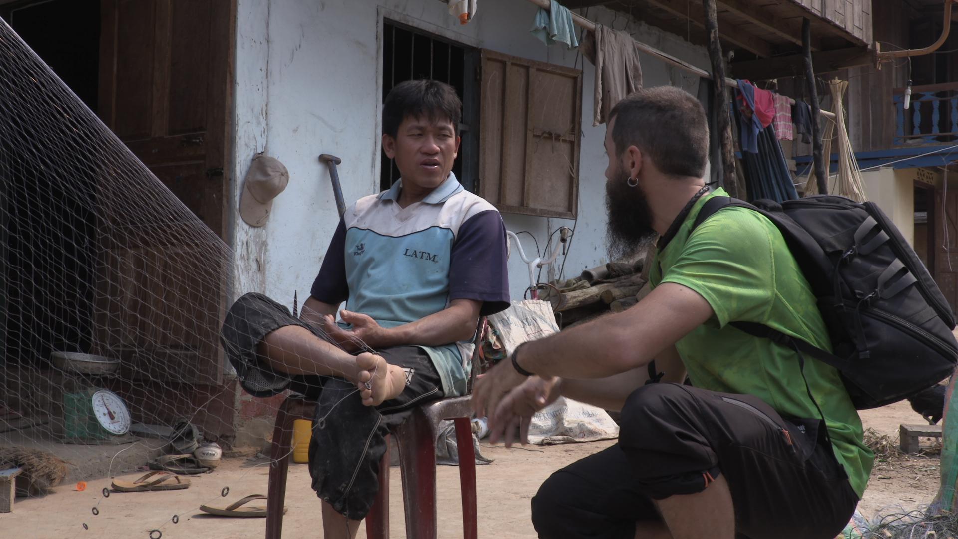 Pescadores de los ríos de Laos
