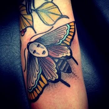 Tatuaje Mariposa De Colores 350x350