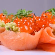 Finger food de salmón