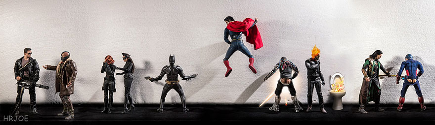 Superhero Action Figure Toys Photography Hrjoe 2