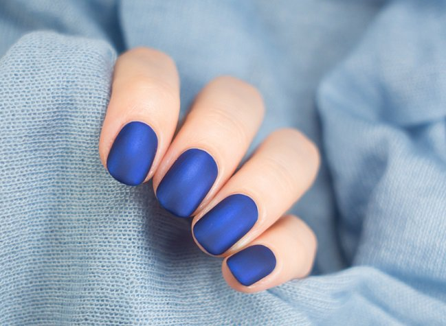 Pinta De Unas Mate Azul