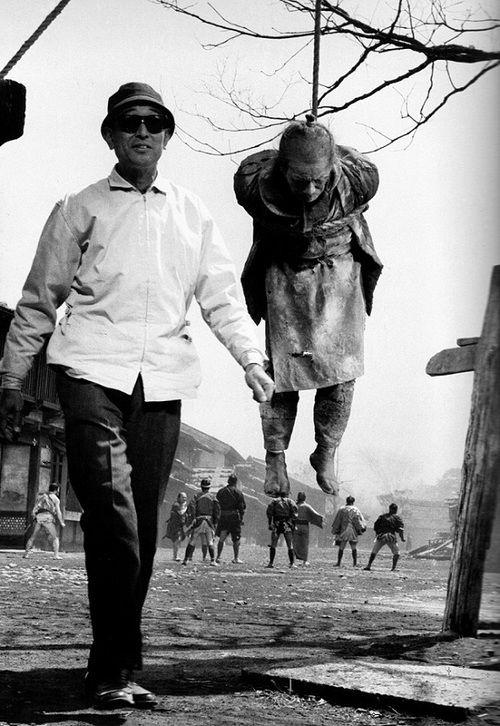 Akira Kurosawa On The Set Of Yojimbo