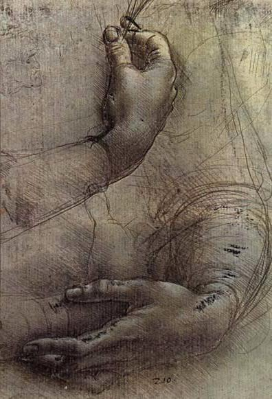 Study Of Arms And Hands A Sketch By Da Vinci Popularly Considered