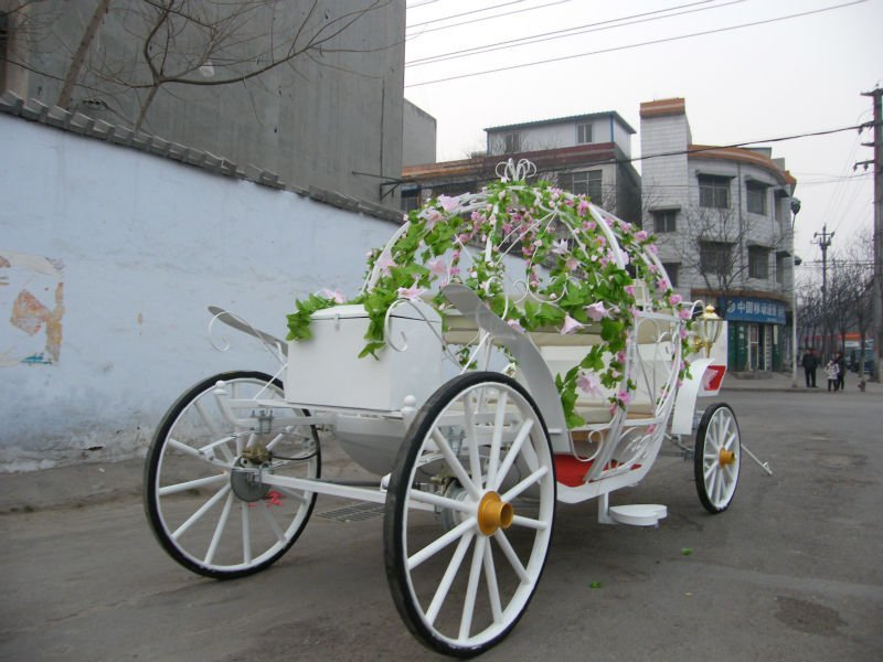 2012 New And Hot Cinderella Princess Pumpkin Horse And Carriage Bridal Horse Drawn Carriage Wedding Favor Carriage