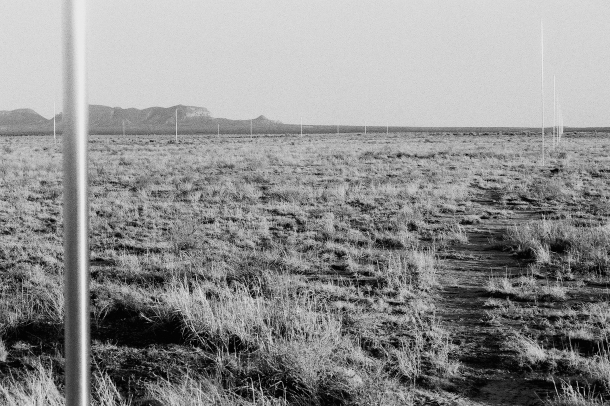 Walter De Maria, Lightning field, 1977.