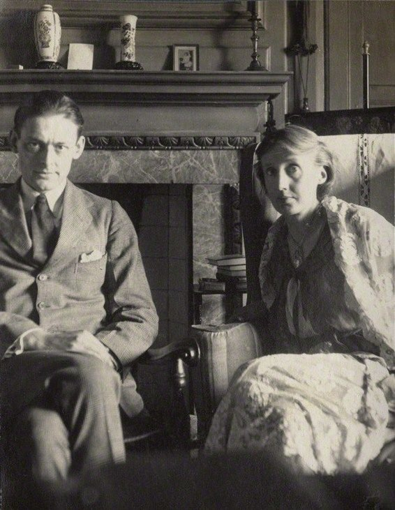 T. S. Eliot y Virginia Woolf.
