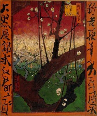 Vangogh Thebloomingplumtreeafterhiroshige 1887