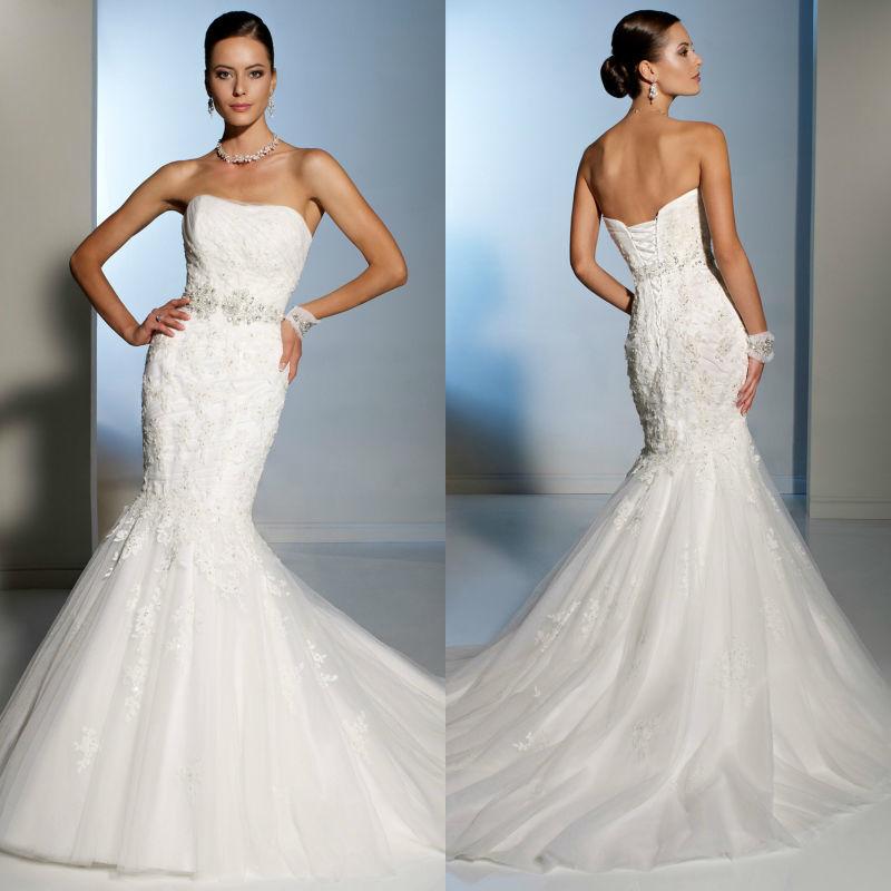 Bw350 Designer 2013 Mermaid Beaded Wedding Dress Lace Alibaba Wedding Gowns