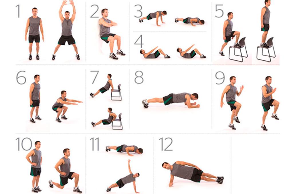 Tablas de ejercicios para hacer en casa - beQbe