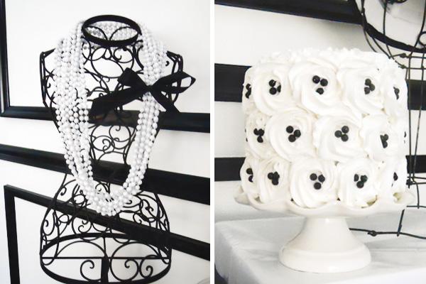 Black White Bust Decoration Cake Platter